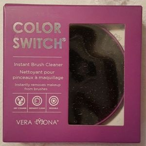 Color switch makeup brush cleaner